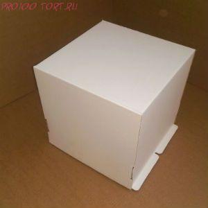 Коробка для торта, 300x300x190мм, гофрокартон, белая