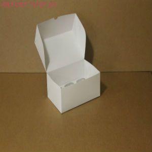 Коробка для капкейков, 250x170x100мм, на 6 капкейков, целлюлозный картон, белый