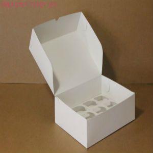 Коробка для капкейков, 350x250x100мм, на 12 капкейков, белый
