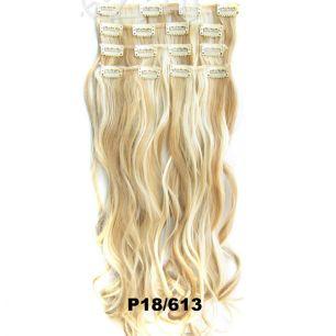 Искусственные волнистые термостойкие волосы на заколках №P018/613 (55 см) - 7 прядей, 100 гр.