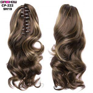 Искусственные термостойкие волосы на зажиме волнистые №009H19 (40 см) -  90 гр.
