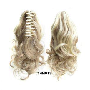 Искусственные термостойкие волосы на зажиме волнистые №014H613 (40 см) -  90 гр.