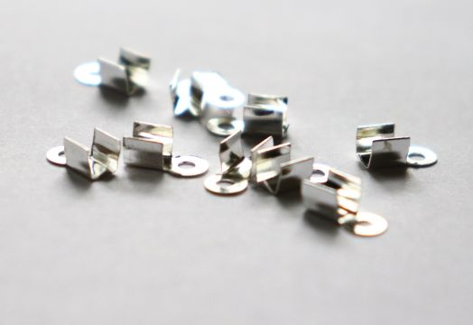 Концевики, 4*5 мм, Светлое серебро, 10 шт/упак
