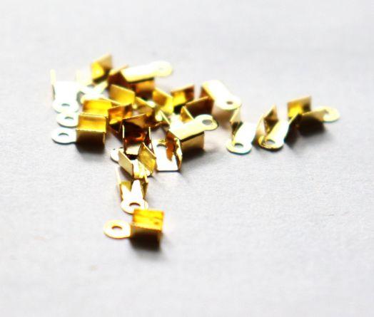 Концевики, 3*2 мм, Золото, 20 шт/упак