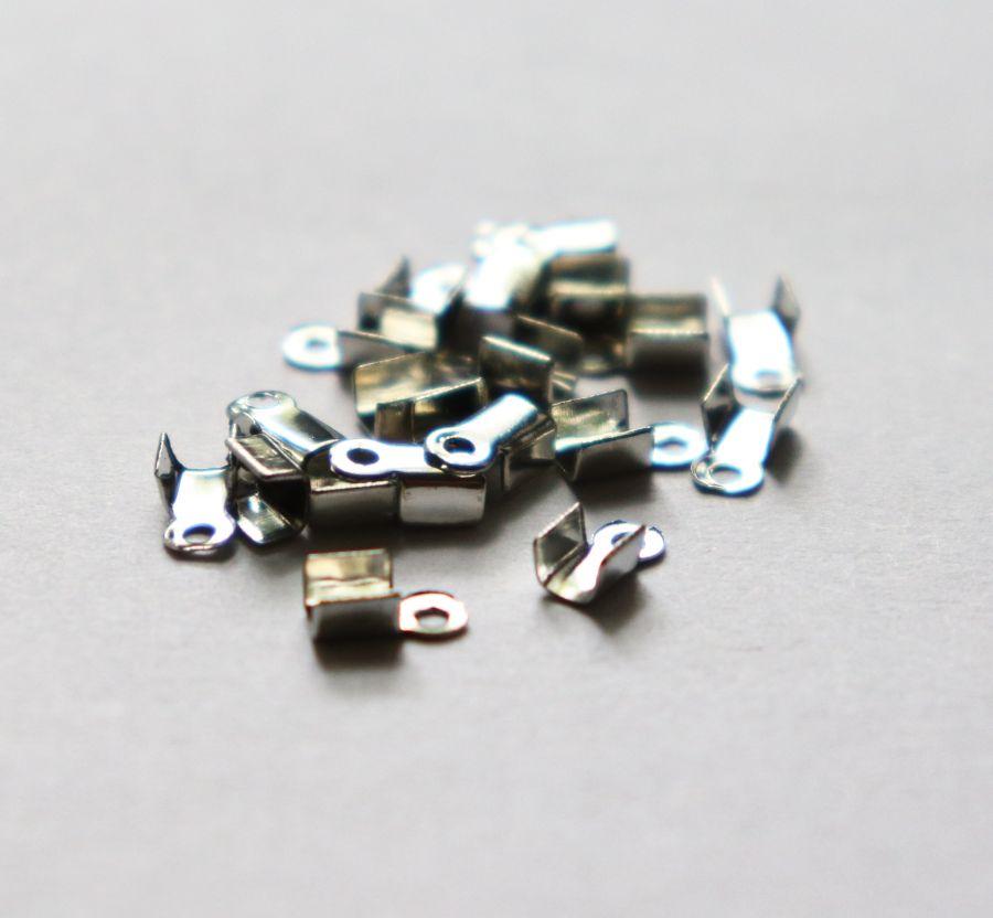 Концевики, 3*2 мм, Никель, 20 шт/упак