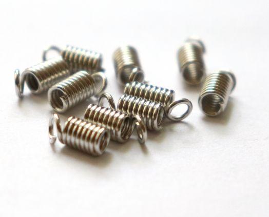 Концевик-пружинка D-4 мм, Никель, 10 шт/упак