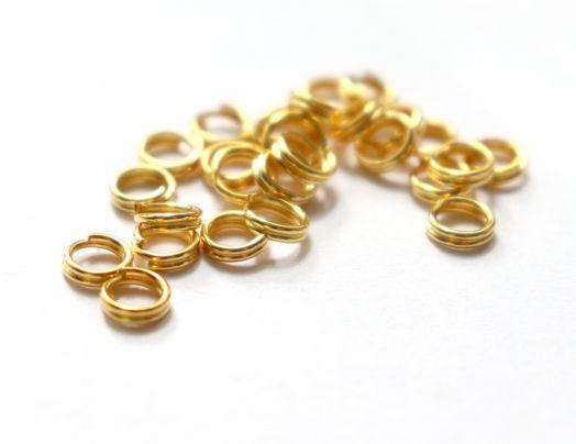 Колечки соединительные, двойные, Золото, 30 шт/упак.