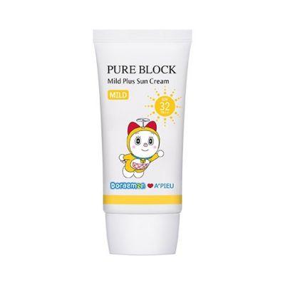 Крем солнцезащитный A'PIEU Pure Block Mild Plus Sun Cream SPF32/PA++ [Doraemon Edition] 50мл