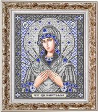 ИС-4040 Славяночка. Пресвятая Богородица Семистрельная в серебре. А4 (набор 825 рублей)