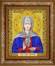 ИС-4056 Славяночка. Святая Блаженная Матрона в золоте. А4 (набор 925 рублей)