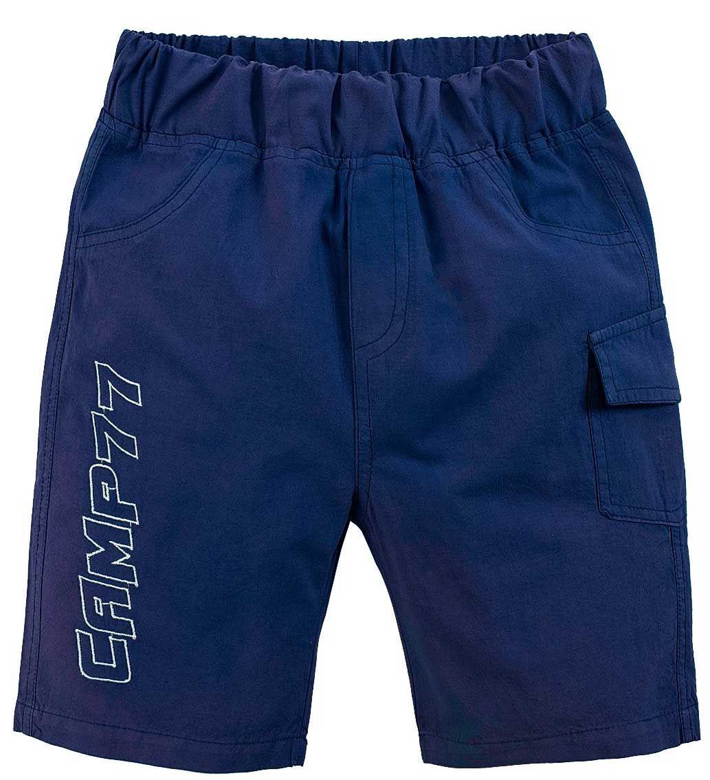 Поплиновые шорты темно-синие