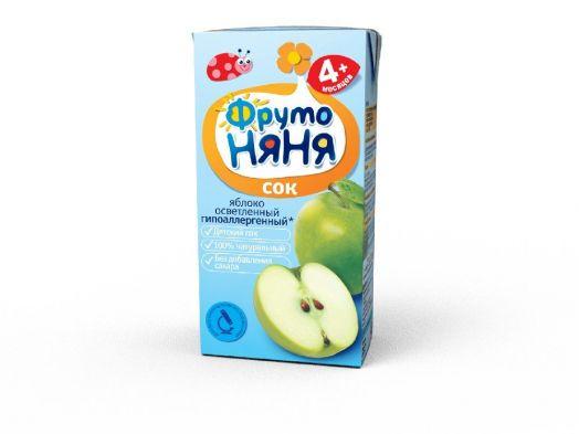 Сок Фрутоняня 0,2л яблоко освет. б/сах.