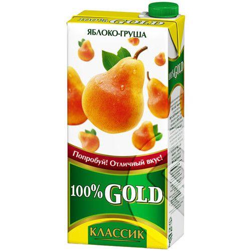 Напиток сок.100% Gold Классик 0,95л Груша/Яблоко
