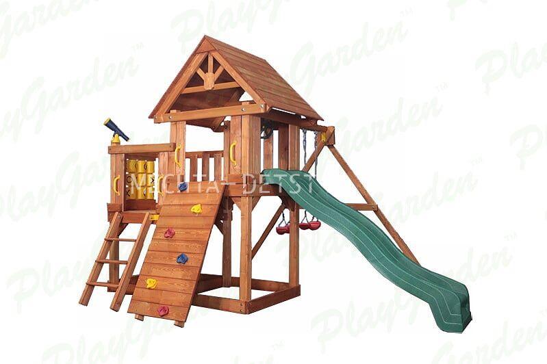 """Игровая площадка """"Green Hill"""" с балконом"""