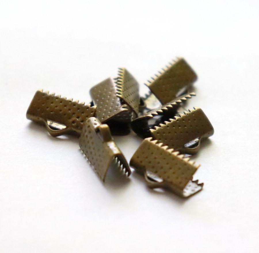 Зажим для ленты, Бронза, 13 мм, 8 шт/упак