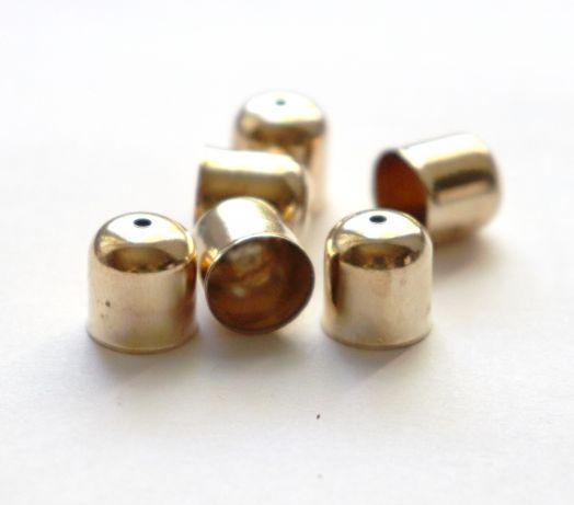 Колпачок с отверстием, D-10 мм, Золото, 6 шт/упак