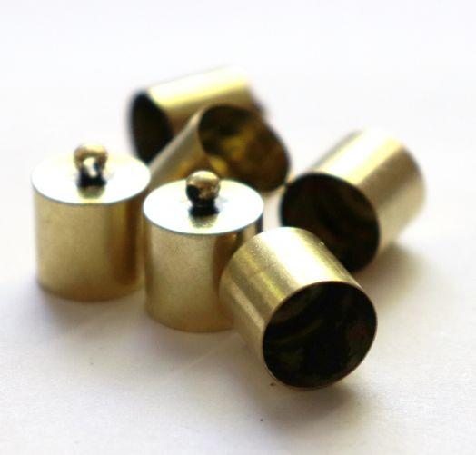 Колпачок цилиндр, с петелькой, D-12 мм, Светлая бронза, 6 шт/упак