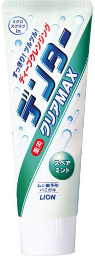 Lion Зубная паста Dentor Clear Max Spearmint с микрогранулами для защиты от кариеса с ароматом мяты 140 г
