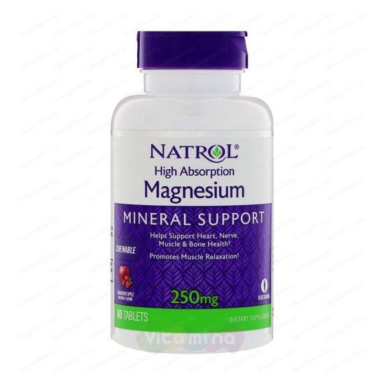 Natrol Легкоусваиваемый Магний Magnesium 250 мг, 60 табл.