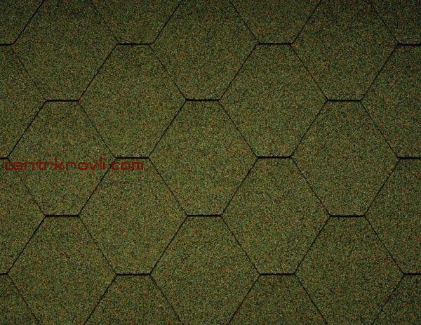 Гибкая черепица Icopal/Plano Nature/зеленый лес