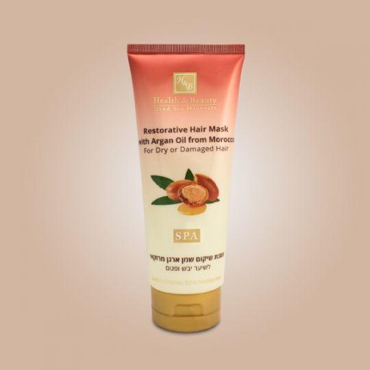 Маска для сухих и поврежденных волос с маслом Марокканской Арганы Health & Beauty (Хелс энд Бьюти) 200 мл