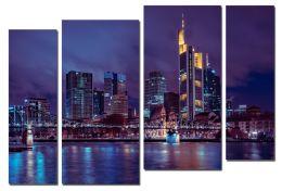 Ночной город на реке