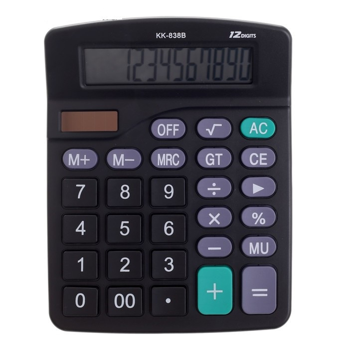 Настольный 12-разрядный калькулятор с двойным питанием Kaerda KK-838B