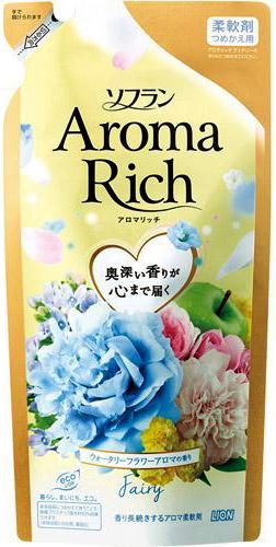 Lion Кондиционер для белья с богатым ароматом натуральных масел Soflan Aroma Rich Fairy мягкая упаковка 430 мл