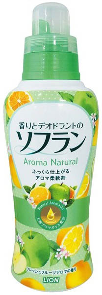 Lion Кондиционер для белья Soflan Premium с фруктовым ароматом 620 мл