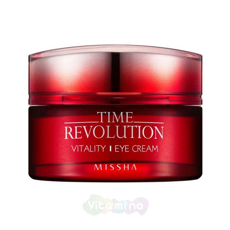 Missha Интенсивный антивозрастной крем для кожи вокруг глаз Time Revolution Vitality Eye Cream, 25 мл