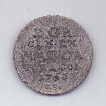 1/2 злотый - 15 грош 1766 года Польша