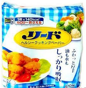 Lion Reed Универсальная бумага для абсорбирования масла с пищи и хранения продуктов 2 рулона 76 шт