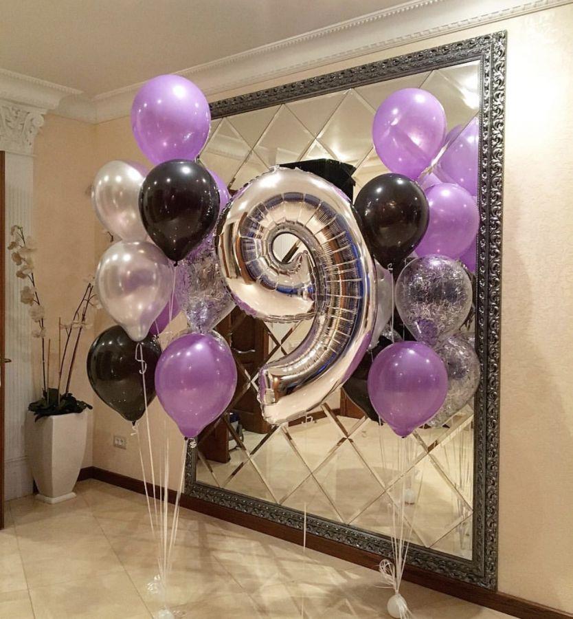 Оформление гелиевыми шарами 9 лет