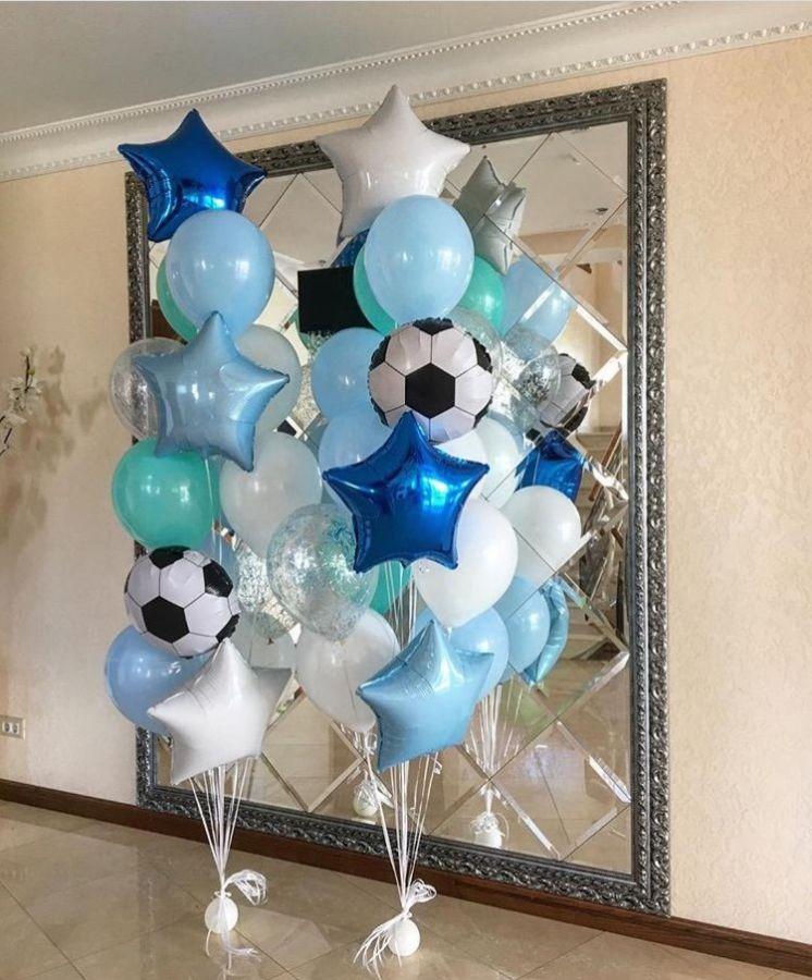 Сет из шаров с гелием Юный футболист