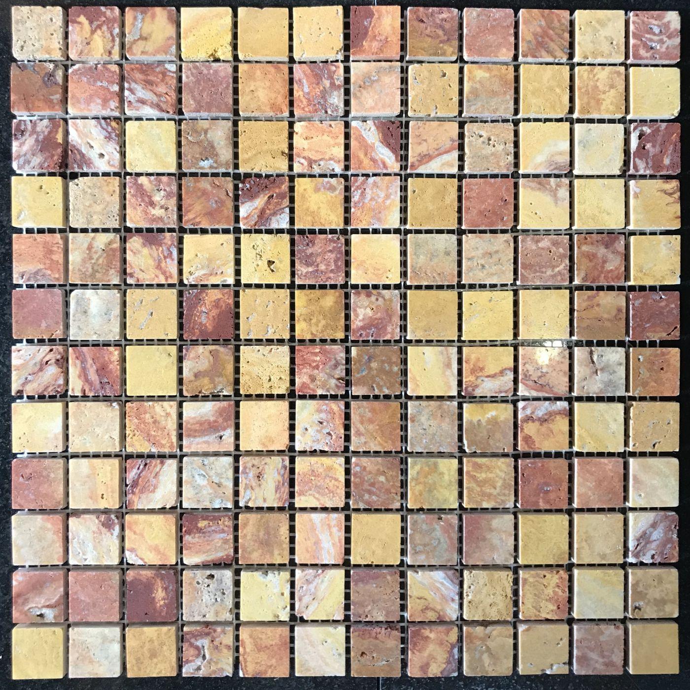 Мозаика из травертина ART. MZ053