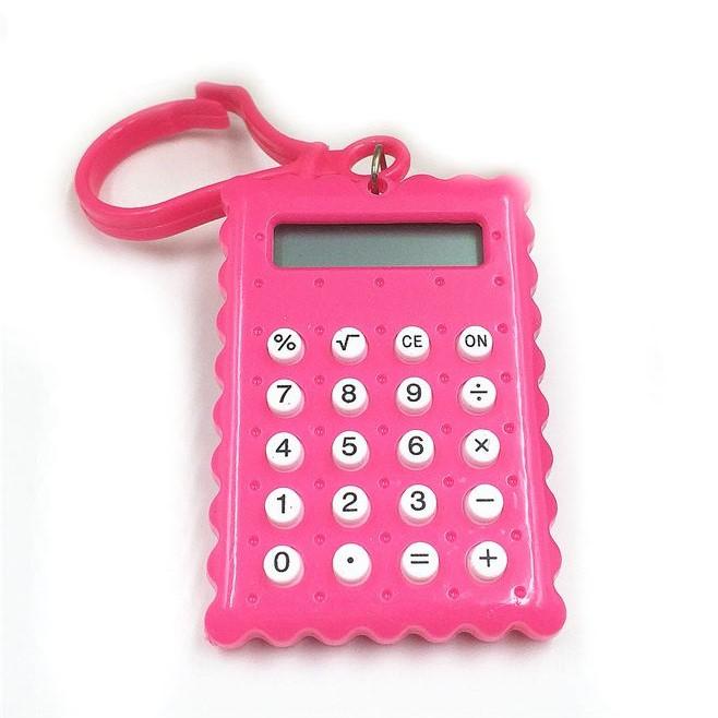 Брелок 8-Разрядный Калькулятор Печенька, Цвет Розовый