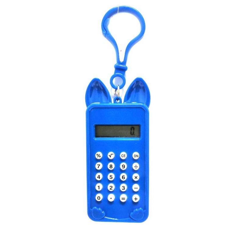 Брелок 8-Разрядный Калькулятор Мышка, Цвет Синий