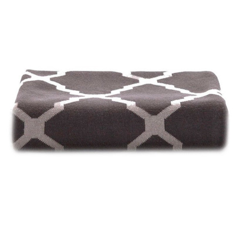 Плед  Xiaomi Tonight Сotton Knitted Blanket Gray 80x140см