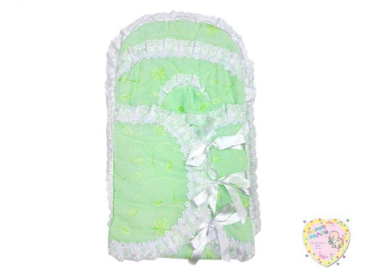 Комплект на выписку летний 2 предмета 0990 (зеленый батист)