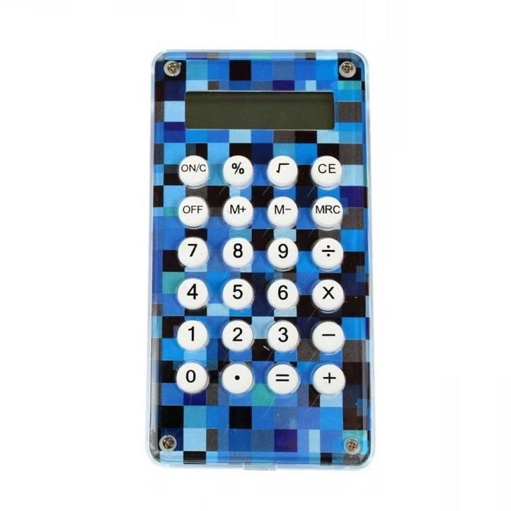 Карманный 8-разрядный калькулятор Лабиринт, цвет синий