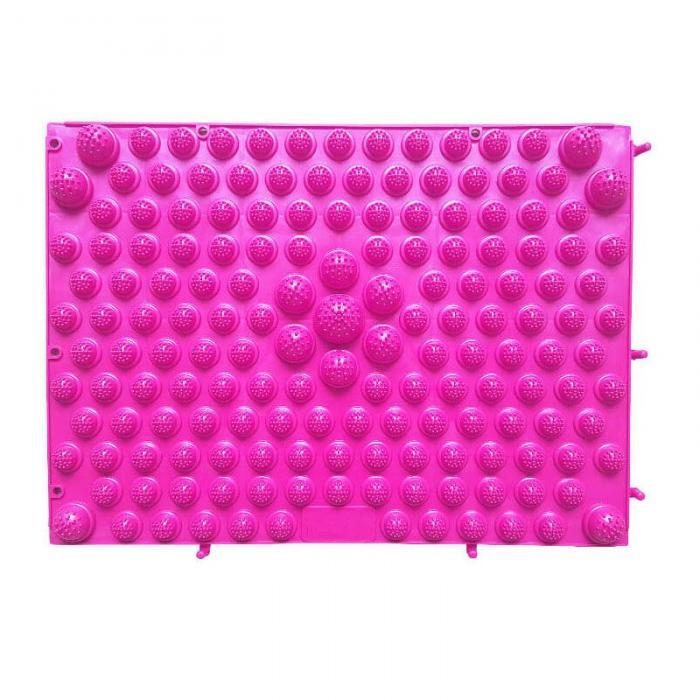 Модульный Коврик-Массажер Для Ног, 37х27 См, Цвет Розовый
