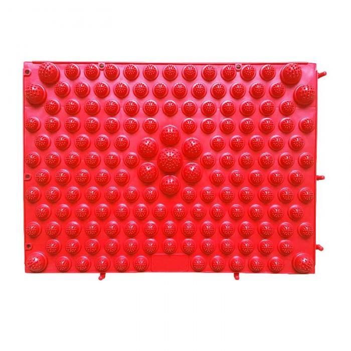 Модульный Коврик-Массажер Для Ног, 37х27 См, Цвет Красный
