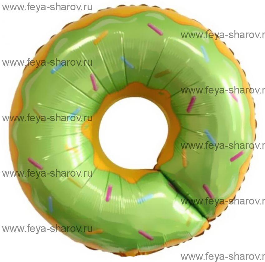 Шар Пончик зеленый 69 см