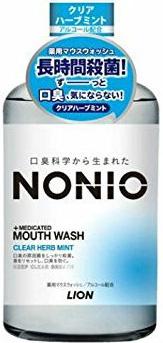 Lion Профилактический зубной ополаскиватель Nonio аромат трав и мяты 600 мл