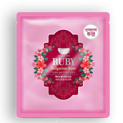 Маска для лица гидрогелевая с розой  koelf RUBY Bulgarian Rose hydrogel mask pack 30гр