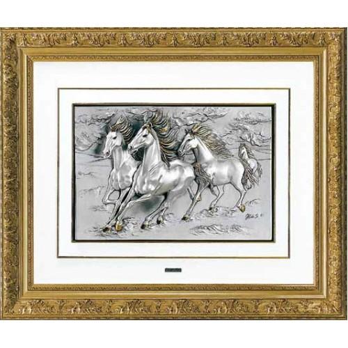"""Картина """"Ретивые кони"""" (Италия, 47х42 см)"""