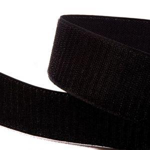 """Лента-контакт клеевая """"Велкро"""", ширина 25мм, пара, цвет черный (1уп = 5м)"""