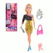 ИГРОЛЕНД Кукла модельная с аксессуарами, пластик, коробка 32,5х12,8х5см, 3 дизайна
