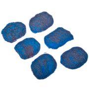 VETTA Набор губок 6шт металлических с мылом, 60гр., 6,5х4,5см