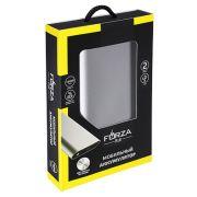 FORZA Аккумулятор мобильный 16000 мАч, темно-серый, 2 входа, 2А